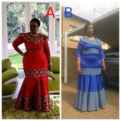 shweshwe dresses 2016 Archives - Page 2 of 14 - style you 7 African Fashion Designers, Latest African Fashion Dresses, African Men Fashion, African Dresses For Women, African Attire, African Wear, African Women, African Clothes, Xhosa Attire