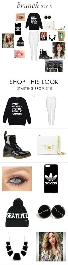 """Brunch Style"" by bearteddyblitz on Polyvore featuring Topshop, Dr. Martens, Chanel, adidas, Spiritual Gangster, Karen Kane and Coleman"