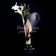 Am creat special pentru tine si pentru ea, zeita ta, acest buchet pe care noi il numim Golden Heart, din 5 trandafiri rosii, 5 trandafiri negri si 9 trandafiri aurii, asezati cu eleganta si sarm in suportul nostru Black&Gold unic in Romania! Trandafirii negri si aurii sunt vopsiti de catre maestrii floristi FlorideLux. Peta, Lava Lamp, Table Lamp, Beauty, Cots, Elegant, Bamboo, Table Lamps, Beauty Illustration