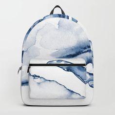 Coastal Crab In Watercolor, Navy Blue (right Half In Set) Backpack/knapsack by Kendra Shedenhelm - STANDARD Cute Mini Backpacks, Stylish Backpacks, Girl Backpacks, Galaxy Backpack, Backpack Purse, Marble Backpack, Mini Mochila, Bags For Teens, Back Bag