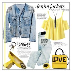 """""""Denim Jackets: Always in Fashion"""" by pat912 ❤ liked on Polyvore featuring Runwaydreamz, Gucci, Bershka, Chicnova Fashion, CB2, Les Petits Joueurs, Lydell NYC, polyvoreeditorial, denimjackets and WardrobeStaples"""