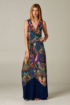 Gorgeous floral print/navy maxi dress.When you get the invite to a beach wedding or a brunch date. 10% discount enter code VSTYLIST at checkout