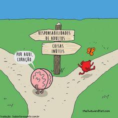 Muito se fala sobre usar o coração ou o cérebro na hora de tomar decisões.    Como cada ser humano é diferente do outro, quando decidimos algo nem sempre pensamos da mesma maneira. Há os que tendem a dar valor mais à emoção e há os que preferem us...
