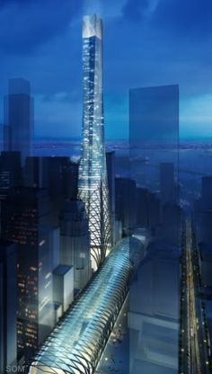 Transit Tower, San Francisco by Skidmore Owings Merrill (SOM) Architects :: 60 floors, height 326m - #Architecture -