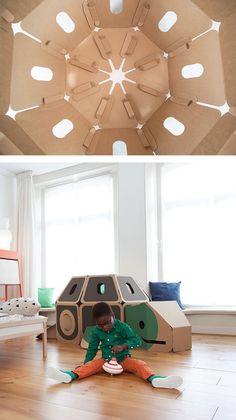 Casas de cartón Hulki con forma de animales