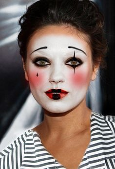 Mime makeup cute