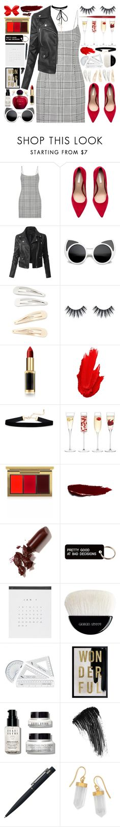 """""""168. Cause I'm tired of the fake love"""" by misspyromaniac ❤ liked on Polyvore featuring Alexander Wang, LE3NO, Kitsch, L'Oréal Paris, Maybelline, LSA International, MAC Cosmetics, LAQA & Co., Various Projects and Giorgio Armani"""