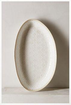 textured white anthro serving platter.