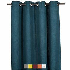 St Tropez - Rideaux-Textiles, Tapis Rideau à œillets en lin lavé 140x280cm