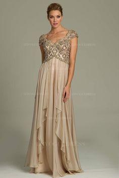 185298755ef A-Line Princess V-neck Floor-length Chiffon Mother of the Bride Dress -  Mother of the Bride Dresses
