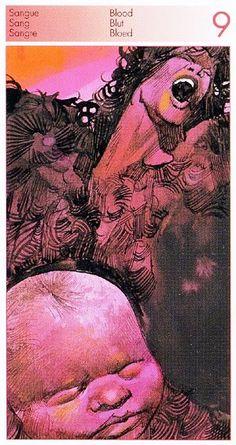 9 of Blood (Swords) - Sergio Toppi. Tarot of the Origins