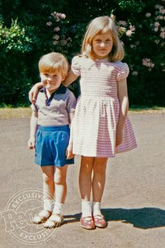 Diana and her younger brother Charles
