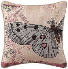 Poetic Wanderlust by Tracy Porter Poetic WanderlustTM by Tracy Porter Tilda Butterfly-Embroidered Faux-Silk Square Feather Pillow