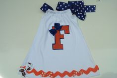 Baby Girls, Toddler Girls dress. For Your Little Florida gators football fan. College Football.. $28.00, via Etsy.