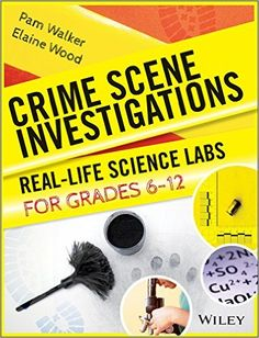 """AmazonSmile: Crime Scene Investigations: Real-Life Science Labs For Grades 6-12, """"This unique resource offers activities in earth, life, and physical science as well as science inquiry and technology. The Grades 6-12 level book provides labs on life, physical, and earth science as well as critical thinking."""""""