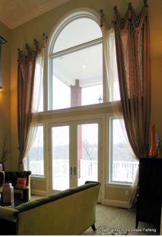 Two Story Windows On Pinterest Tall Window Treatments