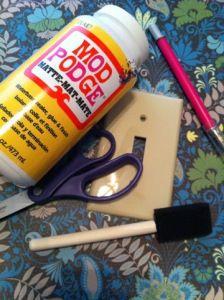 Mod Podge craft: fancy light switch cover DIY