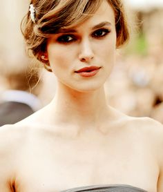 Kiera Knightly. I love her updo! So simple and classic