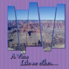 different scrapbook page of Grand Canyon