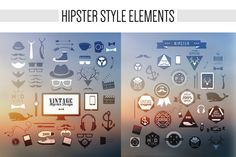Hipster style elements @creativework247