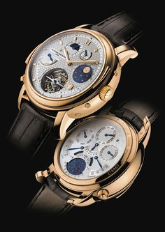 Produced as a limited edition of only seven pieces, the Vacheron Constantin Tour de I'Ile, which celebrated the brand's 250th anniversary, is priced at $1,538,160. The watch has two faces (on the front and back) to make room for its many displays, including a second time zone, perpetual calendar, and sunset time indicator, among others.