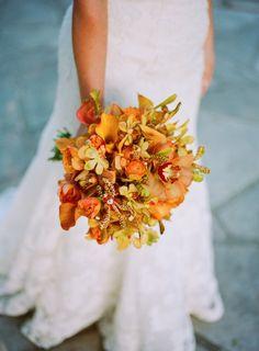 Gorgeous #orange #bouquet