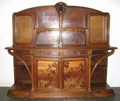 1000 images about mobilier art nouveau on pinterest art nouveau nancy dell 39 olio and art sites. Black Bedroom Furniture Sets. Home Design Ideas