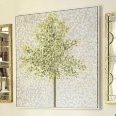 Snowbirds & Blossoms Hand-Painted Canvas | Ballard Designs