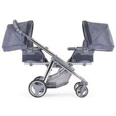 """#Zwillingswagen One&Two - #Kinderwagen für #Zwillinge von Bébécar, besonders hochwertig, Farbnummer: D240 Unser Bébécar #Zwillingswagen eignet sich auch für Geschwister unterschiedlichen Alters. Der """"One & Two"""" wird mit 2 flexiblen Aufsätzen ausgeliefert, die jeweils als Wannenaufsatz genutzt oder zum #Sportwagensitz umgebaut werden können. Bei uns im #Babyshop http://baby-lucien.de/Zwillingskinderwagen-One-Two-D240::142.html"""