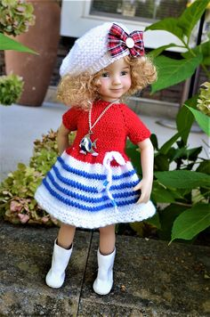 13 Little Darling by Diana Effner OOAK Hand Knit 2pc