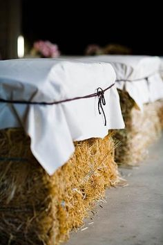 Great idea for barn or marquee wedding.....weather permitting of course!
