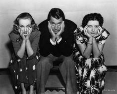 A publicity photo of the three main characters of In Name Only---Carole Lombard, Cary Grant & Kay Francis.