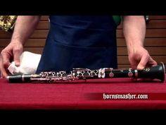 Clarinet periodic (monthly) maintenance - YouTube