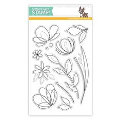RESERVE Simon Says Clear Stamps SPRING FLOWERS SSS101595 Reason To Smile