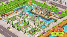 Food Street Game, Restaurant Design, Layouts, Mansions, Games, House Styles, Beautiful, Manor Houses, Villas