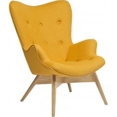 Fauteuil Retro Angels Wings jaune eco Kare Design