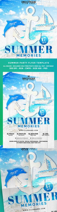 Summer Flyer  Flyer Template And Party Flyer