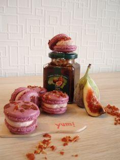Savory Macaron : Parmaham-cream with figjam and pieces of crispy parmaham   www.facebook.com/LilaLollipop