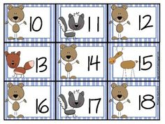 Here's a set of animal-themed number cards. Includes numbers 1-31.  Love these...can do animal patterns with them.  May have to start out the school year using them