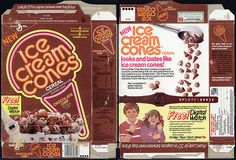 General Mills - Ice Cream Cones  cereal Chocolate Chip - my favorite cereal!