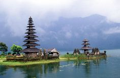 Pura Ulun Danu Bratan temple in Lake Bratan, Bedugal, Central Bali, Indonesia