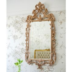 Antoinette Fine French Oak Mirror by The French Bedroom Company
