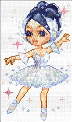 free cross stitch patterns (click for more) #pattern #free #ballet