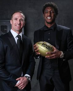 Saints Drew Brees and Michael Thomas. Nfl Saints, New Orleans Saints Football, Football Girls, Football Players, Michael Thomas, Athletic Supporter, Who Dat, Southern Girls, Lsu Tigers
