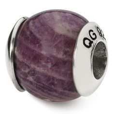 Reflection Beads Sterling Silver Purple Dichroic Glass Bead 13 x 6 mm