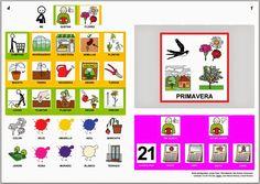 """Informática para Educación Especial: Nuevo libro de comunicación aumentativa sobre la """"Primavera"""" con pictogramas de ARASAAC."""