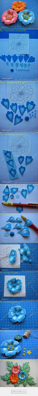 Minh Handmade: How to Make Cut Paper Flowers - created via http://pinthemall.net