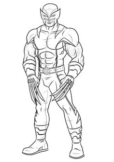 awesome coloring pages for kids wolverine