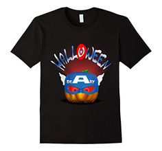 American super hero pumpkin Halloween Kids t-shirt inspired by captain america. This shirt comes in a variety of colors and sizes for women, men and youth in 5 colors. #comics #superhero #tee #clothing #tshirts #shirts #design #amazon #happy #funny #happyhalloween #halloween  #jackolantern #scary #pumpkin #trickortreat #party #captainamerica