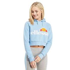 Ellesse Crop Overhead Hoody - Shop online for Ellesse Crop Overhead Hoody with JD Sports, the UK's leading sports fashion retailer. Sport Outfits, Cool Outfits, Fashion Outfits, Cheap Kids Clothes, Clothes For Women, Ellesse Jacket, Adidas, Tommy Hilfiger, Kids Clothing Brands